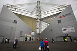 An exterior view of the Tom Finney and Alan Kelly stands before Preston North End take on Reading in an EFL Championship match at Deepdale. The home team won the match 1-0, Jordan Hughill scoring the only goal after 22nd minutes, watched by a crowd of 11,174.