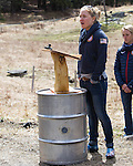 EAST MONTPELIER - USA Vermont Olympians speak at Morse Farm about the influence of climate change on winter sports they have experienced world wide and make suggestions on attacking the problem. Speaking Ida Sargent.