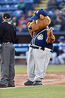 Asheville Tourists mascot Ted E Tourists during a game against the Lexington Legends on May 1, 2015 in Asheville, North Carolina. The Tourists defeated the Legends 4-1. (Tony Farlow/Four Seam Images)