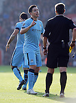 Referee Mike Jones speaks with Samir Nasri of Manchester City<br />  - Barclays Premier League - Southampton vs Manchester City - St Mary's Stadium - Southampton - England - 30th November 2014 - Pic Robin Parker/Sportimage