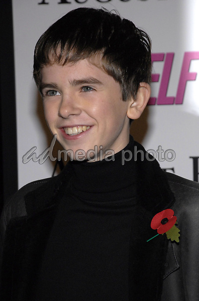 "11 November 2007 - New York, New York - Freddie Highmore. The New York premiere of Warne Bros. Pictures' ""August Rush"" held at  the Ziegfeld Theater.  Photo Credit: Bill Lyons/AdMedia *** Local Caption ***"