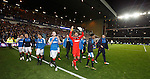 Wes Foderingham leading the lap of honour
