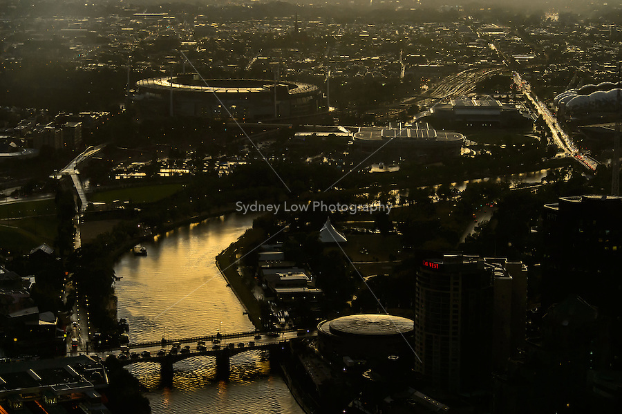 15 March 2012 - Melbourne: Images of Melbourne from Rialto tower. Photo Sydney Low