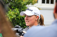 Jennifer Kupcho (USA) after the practice round of the Augusta National Womans Amateur 2019, Champions Retreat, Augusta, Georgia, USA. 05/04/2019.<br /> Picture Fran Caffrey / Golffile.ie<br /> <br /> All photo usage must carry mandatory copyright credit (© Golffile   Fran Caffrey)