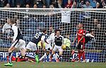 Harry Panayiotou celebrates his goal