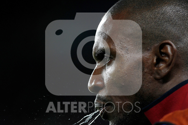 FC Barcelona's Eric Abidal during UEFA Champions League match.May 3,2011.(ALTERPHOTOS/Acero)
