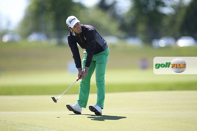 Borja Virto Astudillo (ESP) completes Round Two of the 2015 Nordea Masters at the PGA Sweden National, Bara, Malmo, Sweden. 05/06/2015. Picture David Lloyd | www.golffile.ie