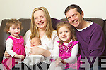 The O'Shea Family from Killorglin Mike and Stella with Children all born on the 2nd of January Holly Anna 2 and Georgia 4.