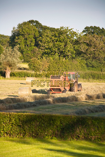 Hay making on a farm, Wiltshire, England.CAP/MEL.©Mel Longhurst/Capital Pictures.
