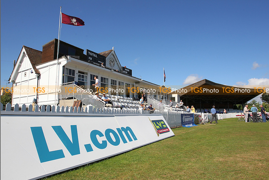 General view of the Pavilion at the Nevill Ground ahead of Day One