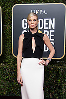 Golden Globe nominee Charlize Theron attends the 76th Annual Golden Globe Awards at the Beverly Hilton in Beverly Hills, CA on Sunday, January 6, 2019.<br /> *Editorial Use Only*<br /> CAP/PLF/HFPA<br /> Image supplied by Capital Pictures
