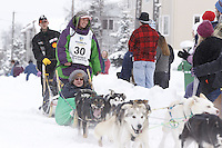 Jaimee Kinzer Saturday, March 3, 2012  Ceremonial Start of Iditarod 2012 in Anchorage, Alaska.