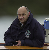 London, GREAT BRITAIN.  University Boat Club Trail VIIIs.Putney to Mortlake. Health and Safety.Blue and Umpire Boris RANKOV. Varsity: Boat Race [Mandatory Credit: Peter Spurrier: Intersport Images]