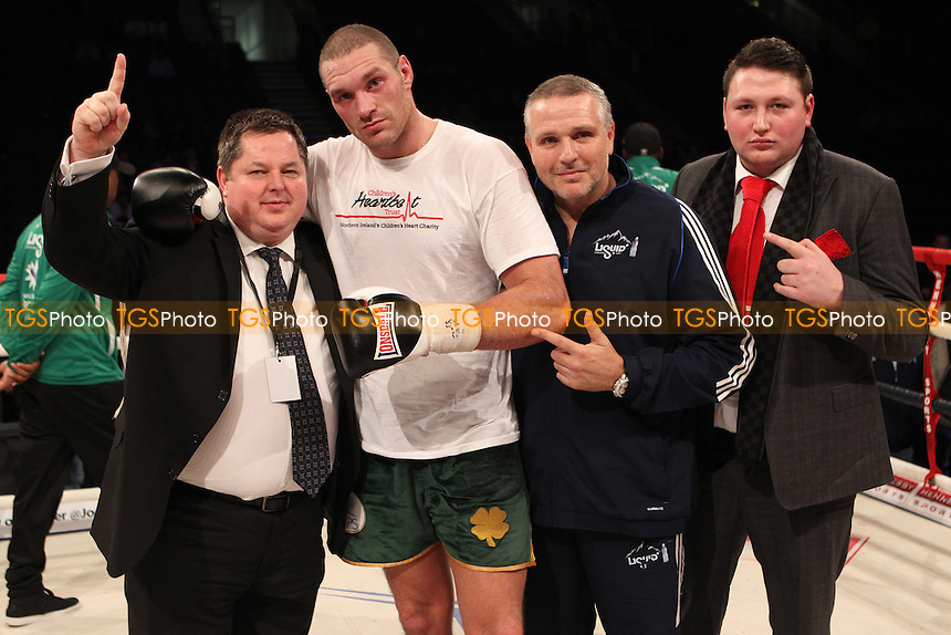 Tyson Fury against Kevin Johnson in a boxing contest at the Odyssey Arena, Belfast, Northern Ireland promoted by Hennessy Sports - 01/12/12 - MANDATORY CREDIT: Chris Royle/TGSPHOTO - Self billing applies where appropriate - 0845 094 6026 - contact@tgsphoto.co.uk - NO UNPAID USE..