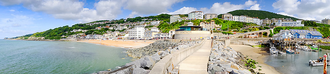 Ventnor seafront on a beautiful summers morning