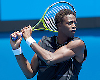 Gael Monfils (FRA) (12) against Matthew Ebden (AUS) in the First Round of the Mens Singles. Monfils beat Ebden 6-4 6-4 6-4 ..International Tennis - Australian Open Tennis - Tuesday 19 Jan 2010 - Melbourne Park - Melbourne - Australia ..© Frey - AMN Images, 1st Floor, Barry House, 20-22 Worple Road, London, SW19 4DH.Tel - +44 20 8947 0100.mfrey@advantagemedianet.com