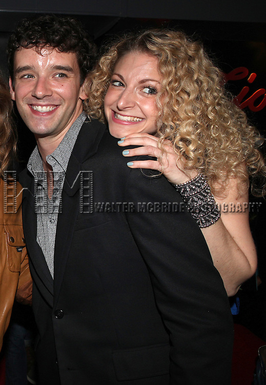 Michael Urie and Lauren Molina attend the opening night performance reception for the Keen Company production of Marry Me A Little at the Clurman Theatre in New York City on10/2/2012.
