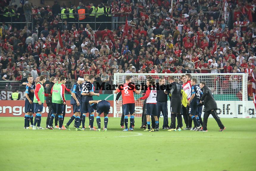 Siegesjubel 1. FC Köln - 1. FSV Mainz 05 vs. 1. FC Köln, Coface Arena, 2. Runde DFB-Pokal