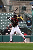 Rochester Red Wings designated hitter Byron Buxton (53) waits for the pitch against the Scranton Wilkes-Barre Railriders on May 1, 2016 at Frontier Field in Rochester, New York. Red Wings won 1-0.  (Christopher Cecere/Four Seam Images)