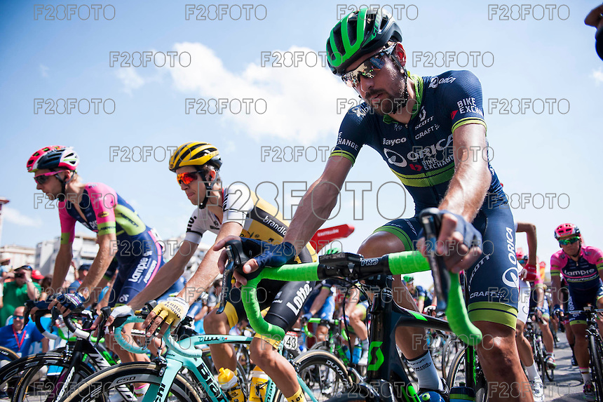 Castellon, SPAIN - SEPTEMBER 7: Bikers during LA Vuelta 2016 on September 7, 2016 in Castellon, Spain