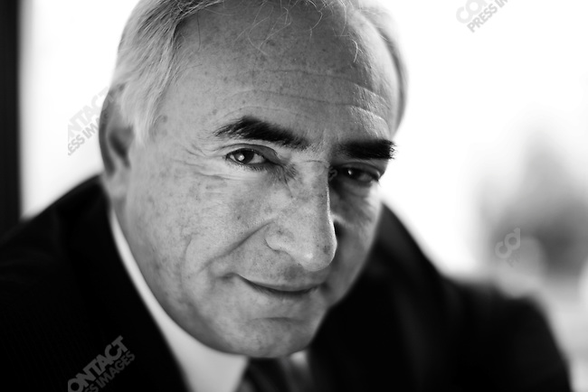 Dominique Strauss-Kahn, Director of the International Monetary Fund, at his office, Washington DC, October 28, 2008