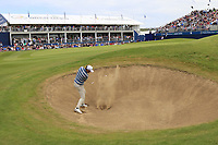 Cormac Sharvin (NIR) chips from a bunker at the 18th green during Sunday's Final Round of the Dubai Duty Free Irish Open 2019, held at Lahinch Golf Club, Lahinch, Ireland. 7th July 2019.<br /> Picture: Eoin Clarke | Golffile<br /> <br /> <br /> All photos usage must carry mandatory copyright credit (© Golffile | Eoin Clarke)