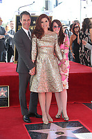 HOLLYWOOD, CA - October 06: Eric McCormack, Debra Messing, Megan Mullally, At Debra Messing Honored With Star On The Hollywood Walk Of Fame At On The Hollywood Walk Of Fame In California on September 06, 2017. <br /> CAP/MPI/FS<br /> &copy;FS/MPI/Capital Pictures