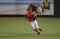 AZL Angels right fielder Datren Bray (16) during an Arizona League game against the AZL Padres 2 at Tempe Diablo Stadium on July 18, 2018 in Tempe, Arizona. The AZL Padres 2 defeated the AZL Angels 8-1. (Zachary Lucy/Four Seam Images)