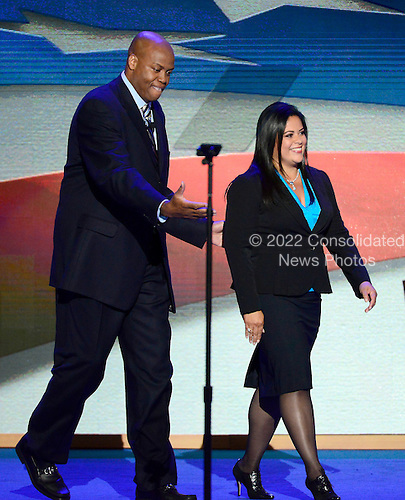 Craig Robinson, brother of first lady Michelle Obama and Maya Soetoro-ng, sister of United States President Barack Obama make remarks at the 2012 Democratic National Convention in Charlotte, North Carolina on Tuesday, September 4, 2012.  .Credit: Ron Sachs / CNP.(RESTRICTION: NO New York or New Jersey Newspapers or newspapers within a 75 mile radius of New York City)