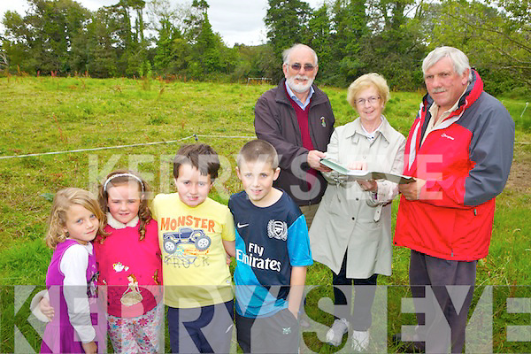 PLANS: Checking out plans for the new community playground for Tarbert this week were, front l-r: Lucy Wrenn, Emma Fox, Ca?ela?n Fox, Bobby Wrenn. Back l-r: John Fox, Joan Murphy and John Mulvihill of the Tarbert Development Association.