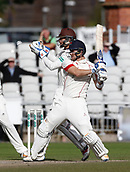 28th September 2017, Old Trafford Cricket Ground, Manchester, England; Specsavers County Championship, day 4, Lancashire versus Surrey; Liam Livingstone sealed a Lancashire victory in the first half hour of play with a series of big boundaries, having also taken six wickets in the Surrey second innings to set up the win