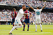 9th September 2017, Santiago Bernabeu, Madrid, Spain; La Liga football, Real Madrid versus Levante; Lucas Vaazquez Iglesias (17) of Real Madrid celebrates after scoring his sides equaliser