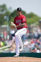 Billings Mustangs relief pitcher Zac Correll (62) in action against the Missoula Osprey at Dehler Park on August 20, 2017 in Billings, Montana.  The Osprey defeated the Mustangs 6-4.  (Brian Westerholt/Four Seam Images)