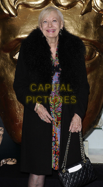 LONDON, ENGLAND - NOVEMBER 24: Biddy Baxter at the British Academy Children's Awards at the London Hilton, Park Lane, November 24th, 2013 in London, England<br /> CAP/CAN<br /> &copy;Can Nguyen/Capital Pictures