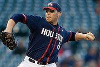 Houston Cougars Ty Stuckey against the Texas Longhorns on Saturday March 6th, 2100 at the Astros College Classic in Houston's Minute Maid Park.  (Photo by Andrew Woolley / Four Seam Images)