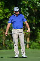 Graeme McDowell (NIR) reacts to barely missing his putt on 7 during round 3 of the 2019 Charles Schwab Challenge, Colonial Country Club, Ft. Worth, Texas,  USA. 5/25/2019.<br /> Picture: Golffile | Ken Murray<br /> <br /> All photo usage must carry mandatory copyright credit (© Golffile | Ken Murray)