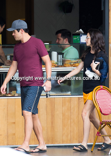 25 &amp; 26 JANUARY 2017 SYDNEY AUSTRALIA<br /> WWW.MATRIXPICTURES.COM.AU<br /> <br /> EXCLUSIVE PICTURES<br /> <br /> James Stewart pictured with his Home &amp; Away costar Isabella Giovinazzo having an intimate dinner together at an Italian Restaurant in Randwick. The following day, the couple were pictured having breakfast at a cafe before some doing some grocery shopping. James and Isabella have taken their relationship to the next level with Isabella moving into James apartment. <br /> <br /> Note: All editorial images subject to the following: For editorial use only. Additional clearance required for commercial, wireless, internet or promotional use.Images may not be altered or modified. Matrix Media Group makes no representations or warranties regarding names, trademarks or logos appearing in the images.