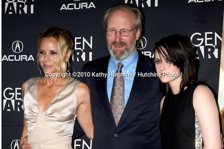 "Maria Bello, William Hurt,  & Kristen Stewart.arriving at ""The Yellow Handkerchief"" LA Premiere.Pacific Design Center Silver Screen Theater.Los Angeles, CA.February 18, 2010.©2010 Kathy Hutchins / Hutchins Photo...."