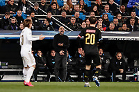 26th February 2020; Estadio Santiago Bernabeu, Madrid, Spain; UEFA Champions League Football, Real Madrid versus Manchester City;  Josep Guardiola Coach of Manchester City