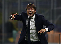 Football Soccer: UEFA Champions League -Group Stage- Group F Internazionale Milano vs Borussia Dortmund, Giuseppe Meazza stadium, October 23, 2019.<br /> Inter's coach Antonio Conte speaks to his players during the Uefa Champions League football match between Internazionale Milano and Borussia Dortmund at Giuseppe Meazza (San Siro) stadium, on October 23, 2019.<br /> UPDATE IMAGES PRESS/Isabella Bonotto