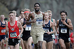 EVANSVILLE, IN - NOVEMBER 18: Bashir Aidrus of Southwest Minnesota State University leads a group of runners during the Division II Men's Cross Country Championship held at the Angel Mounds on November 18, 2017 in Evansville, Indiana. (Photo by Tim Broekema/NCAA Photos/NCAA Photos via Getty Images)