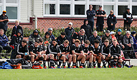 The NZ reserves bench during the rugby union match between New Zealand Schools and Fiji Schools at Hamilton Boys' High School in Hamilton, New Zealand on Monday, 30 September 2019. Photo: Simon Watts / lintottphoto.co.nz