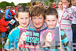 Oisin Fleming Milltown, Evelyn Fleming Killarney and Gavin Fleming Minish at the Jessie Buckley homecoming in St Mary's Cathedral field Killarney on Friday    Copyright Kerry's Eye 2008