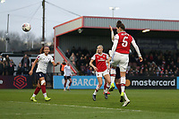 Jennifer Beattie of Arsenal goes close to a goal during Arsenal Women vs Liverpool Women, Barclays FA Women's Super League Football at Meadow Park on 24th November 2019