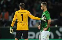 FUSSBALL   1. BUNDESLIGA   SAISON 2012/2013   4. SPIELTAG SV Werder Bremen - VfB Stuttgart                         23.09.2012        Sebastian Mielitz  und Marko Arnautovic (v.l., beide SV Werder Bremen) sind nach dem Abpfiff enttaeuscht