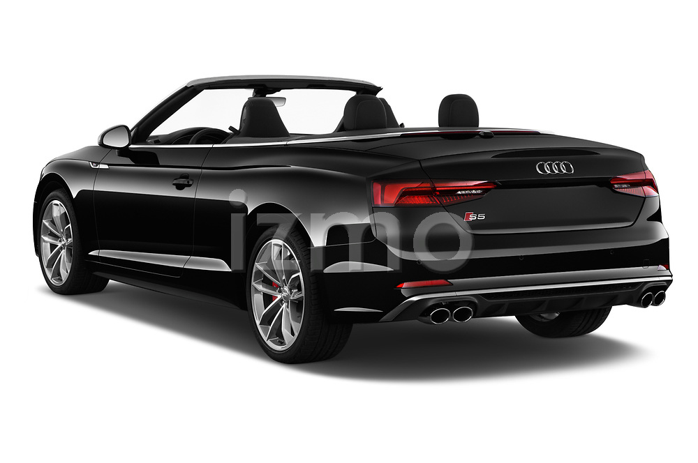 Car pictures of rear three quarter view of a 2018 Audi S5 Base 2 Door Convertible angular rear