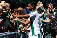 GRONINGEN - Voetbal, Open dag FC Groningen ,  seizoen 2017-2018, 06-08-2017,  FC Groningen speler Juninho Bacuna bij de fans