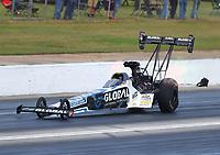 May 6, 2017; Commerce, GA, USA; NHRA top fuel driver Shawn Langdon during qualifying for the Southern Nationals at Atlanta Dragway. Mandatory Credit: Mark J. Rebilas-USA TODAY Sports