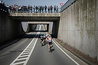early breakaway group speeding towards the Moeren<br /> <br /> 79th Gent-Wevelgem 2017 (1.UWT)<br /> 1day race: Deinze › Wevelgem - BEL (249km)