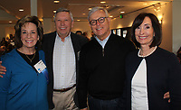 NWA Democrat-Gazette/CARIN SCHOPPMEYER Evelyn and Dennis Shaw (from left) and Greg and Hannah Lee help support the Single Parent Scholarship Fund of Northwest Arkansas on March 30 at the Fayetteville Country Club.